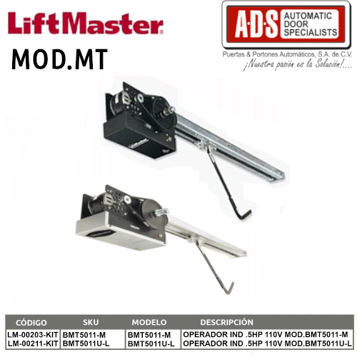 Abrepuertas de Garage MT -Liftmaster