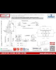 Puerta Automatica Corrediza (SEMI-HERMETICA) DIVA LC CLEAN G25 TIPO P-X-X-P
