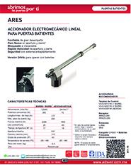 Abrepuertas Abatible Erreka, Modelo, Ares, ADS Puertas y Portones Automaticos S.A. de C.V.