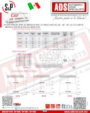 Cortina de Aire Comercial MOD.CAF 4.0Mts(57-61)dB, ADS Puertas y Portones Automaticos S.A. de C.V.