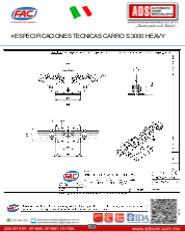 Especificaciones Tecnicas Carro S.3000 HEAVY, ADS Puertas & Portones Automaticos S.A. de C.V.