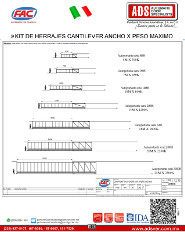 FAC KIT DE HERRAJES CANTILEVER ANCHO X PESO MAXIMO.pdf, ADS Puertas & Portones Automaticos S.A. de C.V.