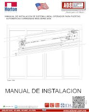 Manual de Instalacion de Sistema Lineal Operador Para Puertas Automaticas Corredizas MOD.SERIE 2000, ADS Puertas & Portones Automaticos S.A. de C.V.