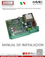 Faac, MANUAL FAAC 624 BLD