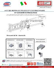 Manual Tecnico Kit de Herrajes Guardian Cantilever FAC, ADS Puertas & Portones Automaticos S.A. de C.V.