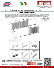 Manual Tecnico Instalacion Kit de Herrajes Telescopico 2 Hojas, Puertas y Portones Automaticos S.A. de C.V.