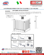 Manual Tecnico Instalacion Herrajes para Porton Plegable 2 & 4 Hojas