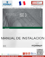 PORTALP, Manual de Instalación Puerta Automatica Abatible Hermetica ISO